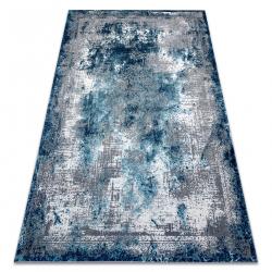 килим CORE W9784 Розета Винтаге - структурно, две нива на руно, синьо / крем / сив
