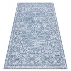 Dywan SZNURKOWY SIZAL LOFT 21213 Ornament niebieski / srebrny / kość słoniowa