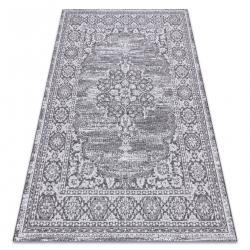 Fonott sizal szőnyeg LOFT 21213 Dísz szürke / ezüst / elefántcsont