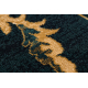 шерстяной ковер LATICA темно-синий