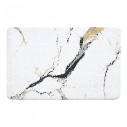 Dywanik łazienkowy MARBLE marmur, antypoślizgowy, miękki - biały