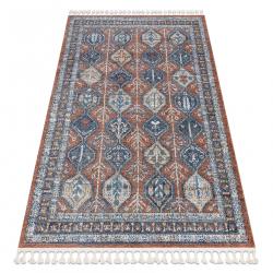 Moderný koberec BELLE BG60A hnedý / ružový strapce