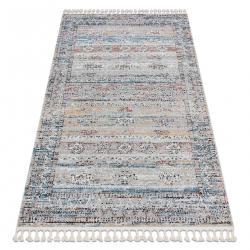 Modern carpet BELLE BN25A beige / blue Fringe
