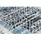 Moderný koberec BELLE BR22A béžový / modrý strapce