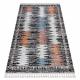 Modern carpet BELLE BR23A black / pink Fringe