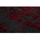 Moderný koberec JAVA 1523 Rám červená / farba slonoviny