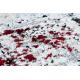 Moderný koberec JAVA 1544 Abstrakcia farba slonoviny / červená