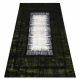 Moderný koberec JAVA 1523 Rám zelená / farba slonoviny