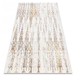 Carpet CORE 241A Ornament Vintage - structural, two levels of fleece, beige / gold