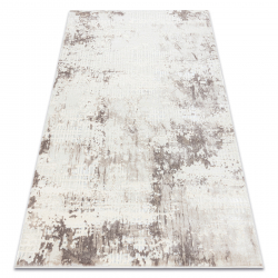 Carpet CORE A002 Abstraction - structural, two levels of fleece, ivory / beige