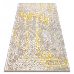 Carpet CORE 3807 Ornament Vintage - structural, two levels of fleece, beige / gold