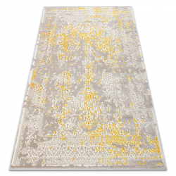 килим CORE 3807 Орнамент Винтаге - структурно, две нива на руно, бежов / злато
