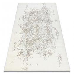 килим CORE 3824 Орнамент Винтаге - структурно, две нива на руно, крем / кафяв