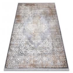 Moderný koberec LUCE 80 ornament vintage - Štrukturálny sivá / horčica