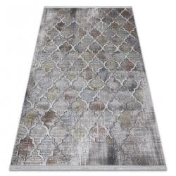 Modern LUCE 75 carpet Trellis vintage - structural grey / mustard