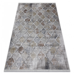 Moderný koberec LUCE 75 vzor Marocký ďatelina vintage - Štrukturálny sivá / horčica
