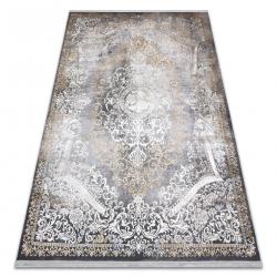 Modern LUCE 91 carpet ornament vintage - structural grey / mustard