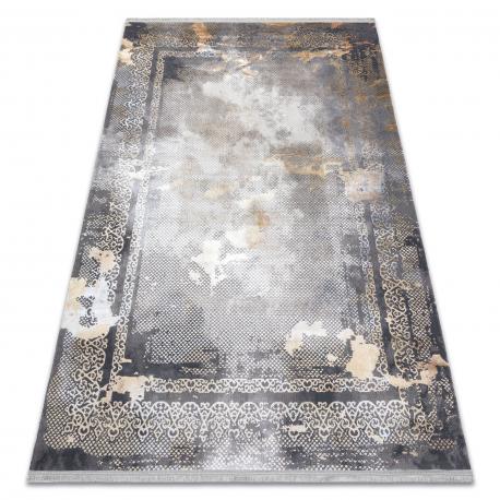 модерен LUCE 77 килим кадър vintage - structural сив / горчица