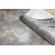 Moderný koberec LUCE 77 rám vintage - Štrukturálny sivá / horčica