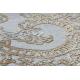 Alfombra LUCE 84 moderna Ornamento vintage - Structural gris / mostaza