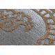 Tapete LUCE 84 moderno Ornamento vintage - Structural cinzento / mostarda
