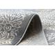 Tapis LUCE 84 moderne Ornement vintage - Structural gris / moutarde