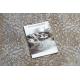 Dywan LUCE 84 nowoczesny Ornament vintage przecierany - Strukturalny szary / musztarda