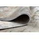 Moderný koberec LUCE 74 Dlažba tehla vintage - Štrukturálny sivá / horčica