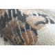 Modern LUCE 74 carpet Paving brick vintage - structural grey / mustard