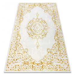 Carpet CORE 6268 Frame, ornament - structural two levels of fleece, ivory / gold