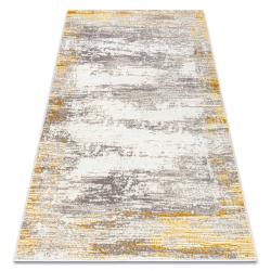 килим CORE W9775 Рамка, сенчеста - структурни, две нива на руно, слонова кост / бежово