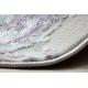 Tapete moderno SAMPLE Reyhan AA933A 67 Ornamento Vintage - estrutural, dois níveis, creme / rosa