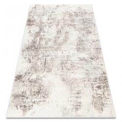 килим CORE W9786 Абстракт - структурно, две нива на руно, бежов