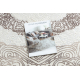 Alfombra CORE 8111 Ornamento Vintage - estructural, dos niveles de vellón, beige