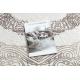 Covor CORE 8111 Ornament Vintage - structural, două niveluri de lână, beige