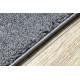 Läufer SOFT 2485 glatt, einfarbig grau