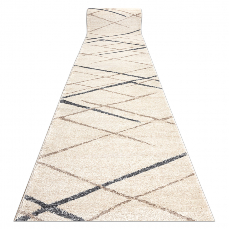 Alfombra de pasillo SOFT 2515 Diamantes beige