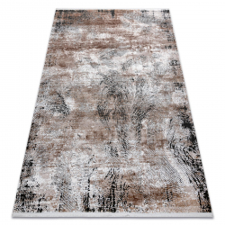 Modern LUNA VISCOSE CC709A 48 carpet abstraction vintage - structural cream / beige