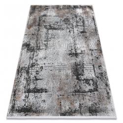 Moderný koberec LUNA VISCOSE AA818A 46 bludisko vintage - Štrukturálny krém / šedá