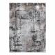 Moderní koberec LUNA VISCOSE AA818A 46 bludiště vintage - Strukturální krém / šedá