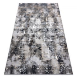 Modern LISA AA611A 56 carpet geometric vintage - structural beige / grey