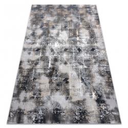 Moderný koberec LISA AA611A 56 geometrický vintage - Štrukturálny béžová / šedá