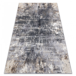Modern LISA AA865A 47 carpet abstraction vintage - structural ivory / anthracite