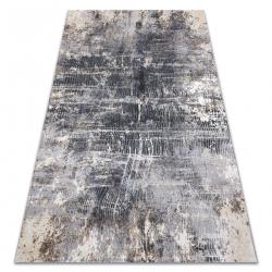 Moderný koberec LISA AA865A 47 abstrakcia vintage - Štrukturálny slonovinová kosť / antracit