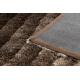 Moderní koberec FLIM 006-B2 shaggy, Vlny - Strukturální hnědý