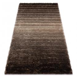 Modern shaggy carpet FLIM 007-B3 Stripes - structural brown