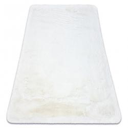 Modern washing carpet TEDDY shaggy, plush, very thick anti-slip ivory