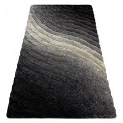 Dywan shaggy FLIM 006-B1 nowoczesny, Fale - Strukturalny, szary