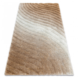 модерен килим FLIM 006-B5 рошав, Вълни - structural бежов
