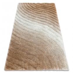 Modern shaggy carpet FLIM 006-B5 Waves - structural beige